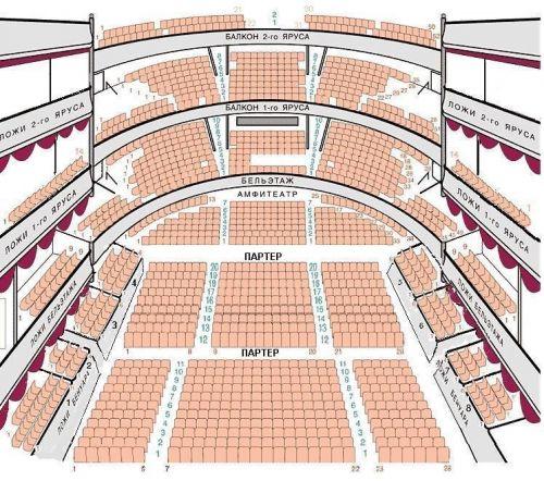 Схема зала Московской оперетты